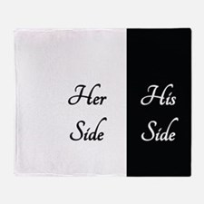 HER SIDE /// HIS SIDE Throw Blanket