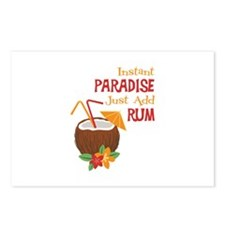 Instant Paradise Just Add Rum Postcards (Package o