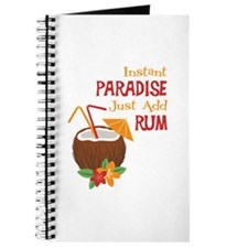 Instant Paradise Just Add Rum Journal