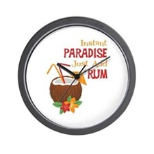Instant Paradise Just Add Rum Wall Clock