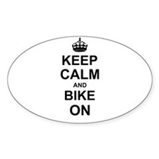 Keep Calm and Bike on Decal