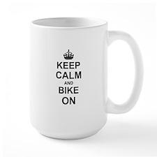 Keep Calm and Bike on Mugs