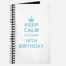 Keep Calm its your 16th Birthday - blue Journal