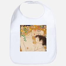 Klimt Mother and Child vintage art Bib