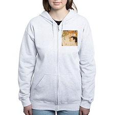 Klimt Mother and Child vintage art Zip Hoody