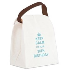 Keep Calm its your 20th Birthday Canvas Lunch Bag