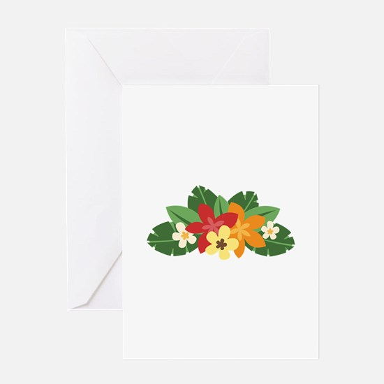 Tropical Flowers Greeting Cards