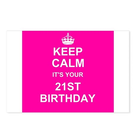 Keep Calm its your 21st Birthday Postcards (Packag