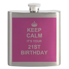 Keep Calm its your 21st Birthday Flask