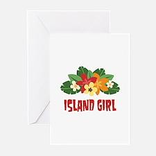 Island Girl Greeting Cards