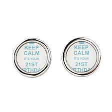 Keep Calm its your 21st Birthday Cufflinks
