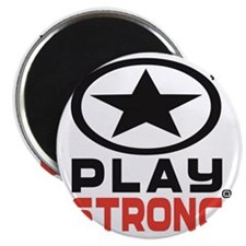 Play Strong Oval Star Logo Magnet