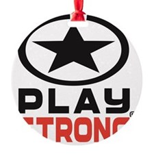Play Strong Oval Star Logo Ornament