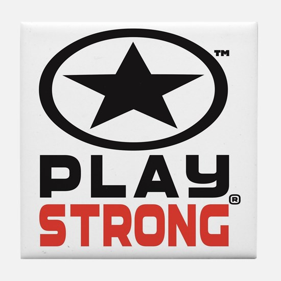 Play Strong Oval Star Logo Tile Coaster