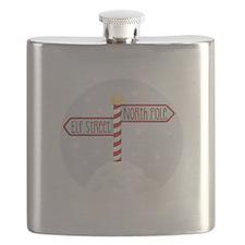 Elf Street North Pole Flask