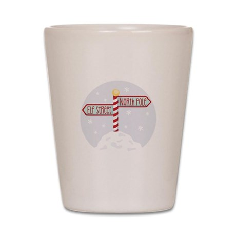 Elf Street North Pole Shot Glass