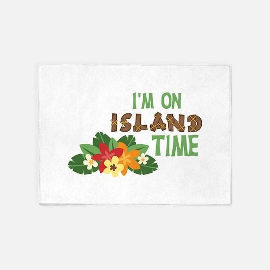Im On Island Time 5'x7'Area Rug
