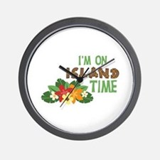 Im On Island Time Wall Clock