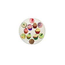 Eileen's Lovehearts Cupcakes Mini Button
