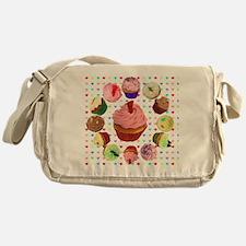 Eileen's Lovehearts Cupcakes Messenger Bag