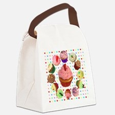 Loveheart Cupcakes Canvas Lunch Bag