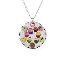 Loveheart Cupcakes Circle Necklace