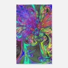Glowing Burst of Color 3'x5' Area Rug