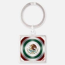 Mexican Flag Shield Keychains