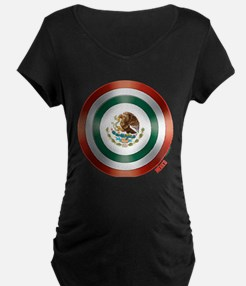 Mexican Flag Shield Maternity T-Shirt
