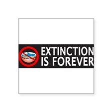 Extinction Is Forever Sticker