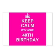Keep Calm its your 40th Birthday Postcards (Packag