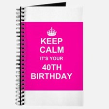 Keep Calm its your 40th Birthday Journal