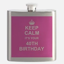 Keep Calm its your 40th Birthday Flask