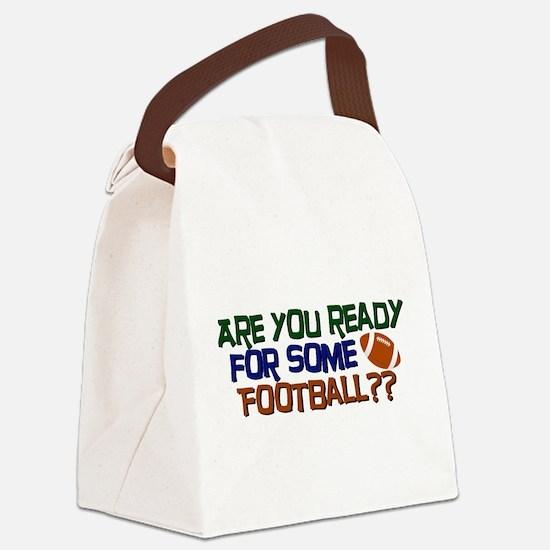 Football Season Canvas Lunch Bag