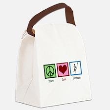 Peace Love Lacrosse Canvas Lunch Bag