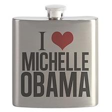 I Love Michelle Obama Flask