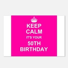 Keep Calm its your 50th Birthday Postcards (Packag