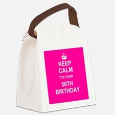 Keep Calm its your 50th Birthday Canvas Lunch Bag