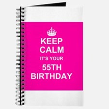 Keep Calm its your 55th Birthday Journal