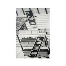 NY Broadway Times Square - Rectangle Magnet