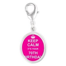 Keep Calm its your 70th Birthday Charms