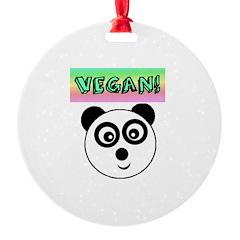 VEGAN! Panda Ornament