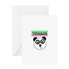 VEGAN! Panda Greeting Cards