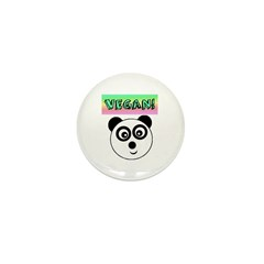 VEGAN! Panda Mini Button (10 pack)