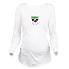 VEGAN! Panda Long Sleeve Maternity T-Shirt