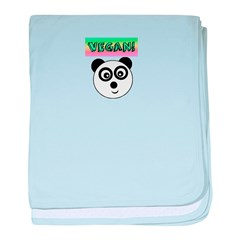 VEGAN! Panda baby blanket