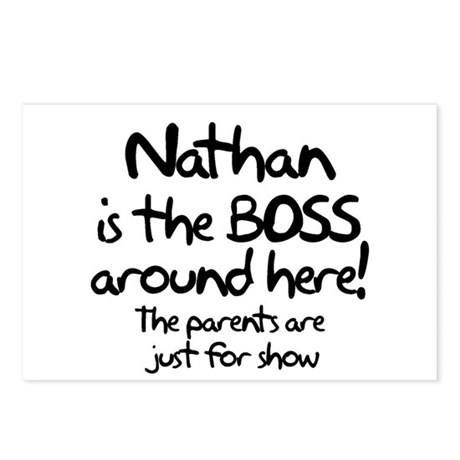 Nathan is the Boss Postcards (Package of 8)
