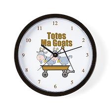 Totes Ma Goats Wall Clock