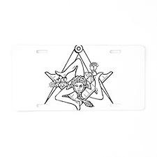Cute Sicily Aluminum License Plate
