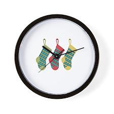 Christmas Knit Stockings Wall Clock